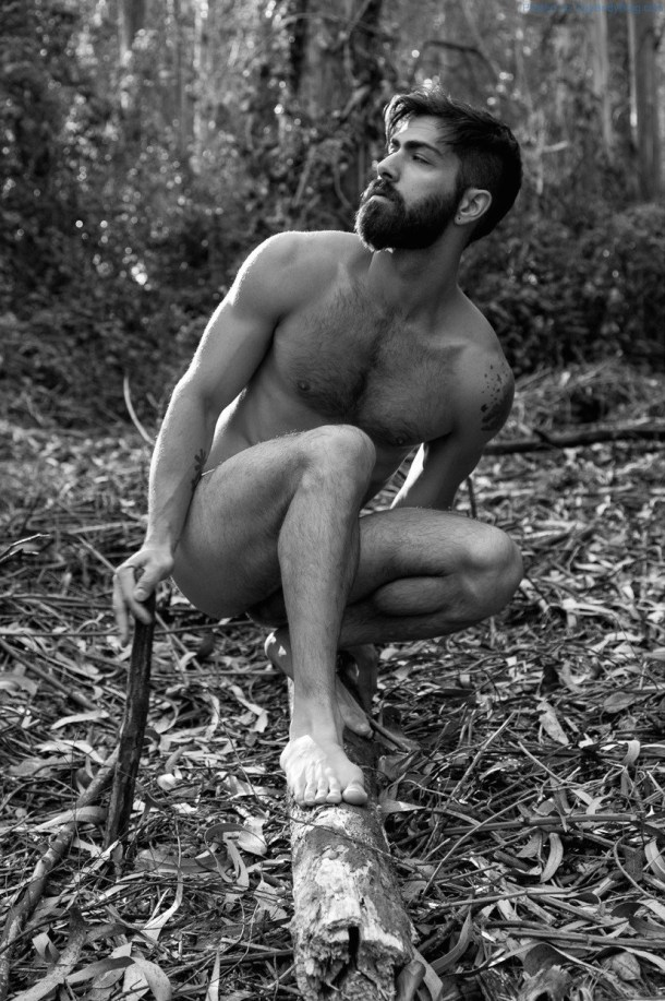 Just-A-Hairy-Hunk-Naked-And-Horny-In-The-Woods-3
