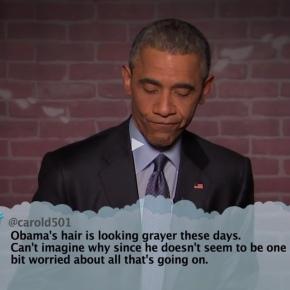 Watch: Jimmy Kimmel Mean Tweets – ObamaEdition