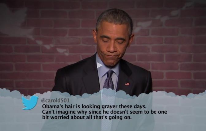 Watch: Jimmy Kimmel Mean Tweets – Obama Edition