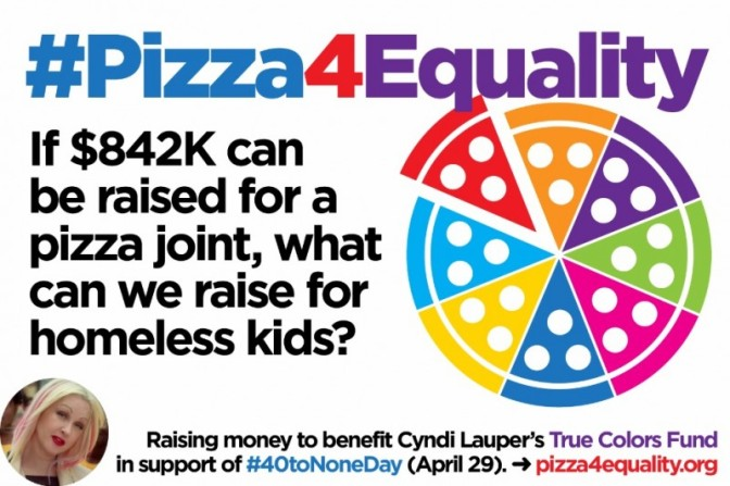 Help Homeless LGBT Youth with #Pizza4Equality!