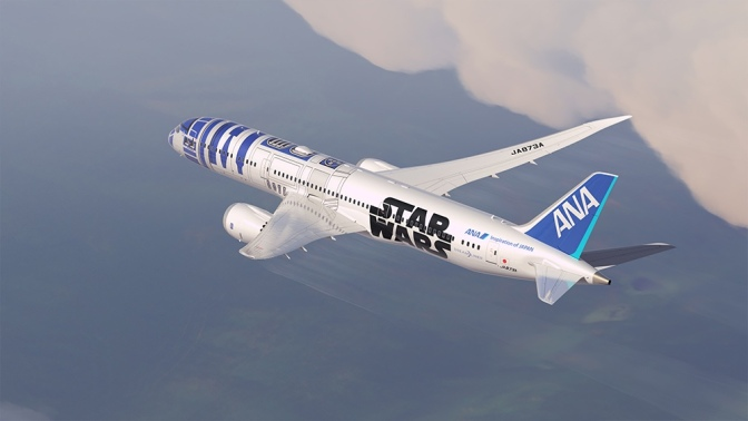 For 'Star War' Fanatics: This 787 Is Painted Like R2D2