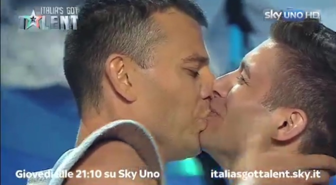 Watch As This Gorgeous Italian Gay Couple Get Engaged on 'Italy's Got Talent'