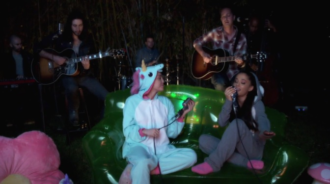 Watch: Miley and Ariana Perform 'Don't Dream It's Over' to End LGBT Homelessness