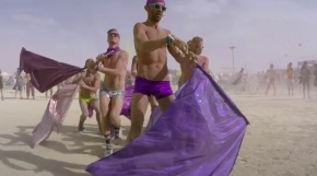 Watch: Some Very Gay Burning Man via Glamcocks