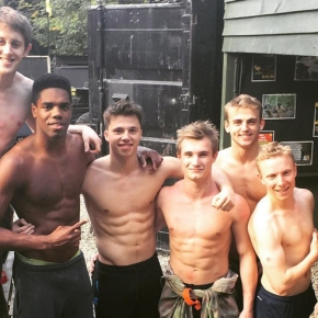When Shirtless Twink British Divers PlayPaintball