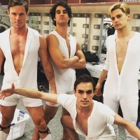 Now, Here's Jake Shears, Andy Mientus, and Darren Criss In White Onesies