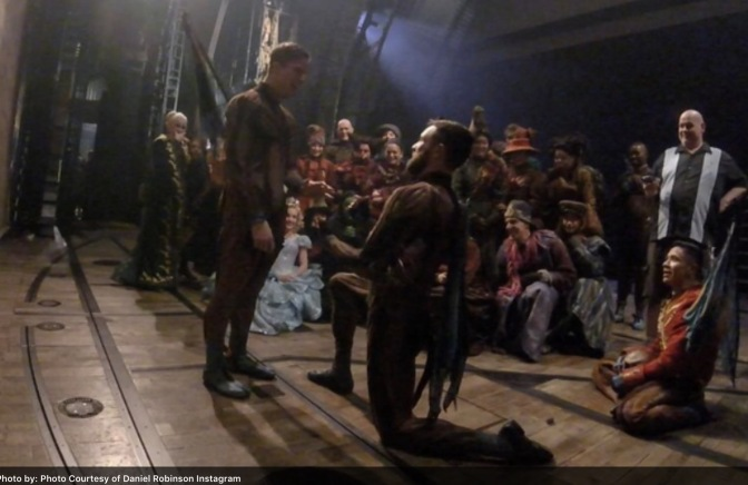 Flying Monkeys Get Engaged After 'Wicked' Curtain Call