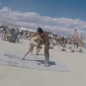 Just Because: Naked Oil Wrestling at Burning Man 2015