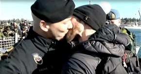 Watch: Canadian Sailor and His Boyfriend Kiss After 8-Month Deployment and Make NavalHistory