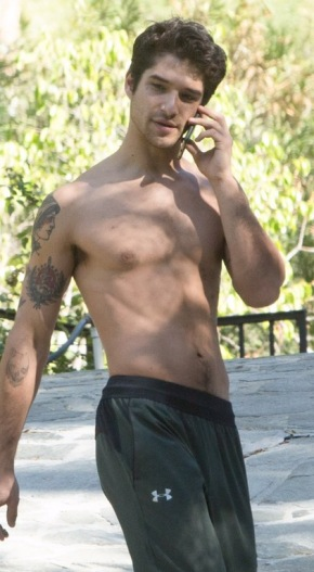 Post Election Pick-me-up: Tyler Posey and His Nips Doing Housework