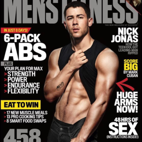 Nick Jonas Cockteases Us on Cover of 'Men's Fitness'