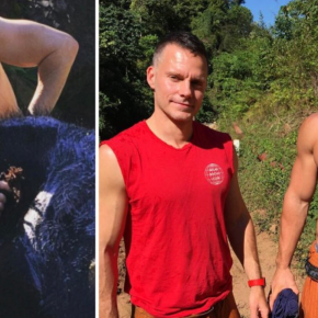 Just Because: Shirtless Anderson Cooper Washing AnElephant