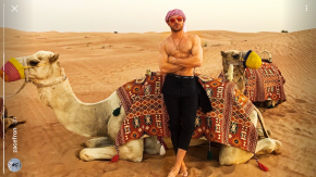 Just Because: Zac Efron Riding a Camel Bareback