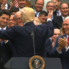 Trump and White House Republican Men Celebrate As They Destroy Health Care for Millions